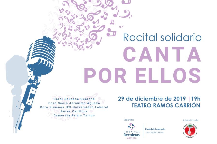 El Hospital Recoletas Zamora organiza el recital solidario «Canta por ellos»