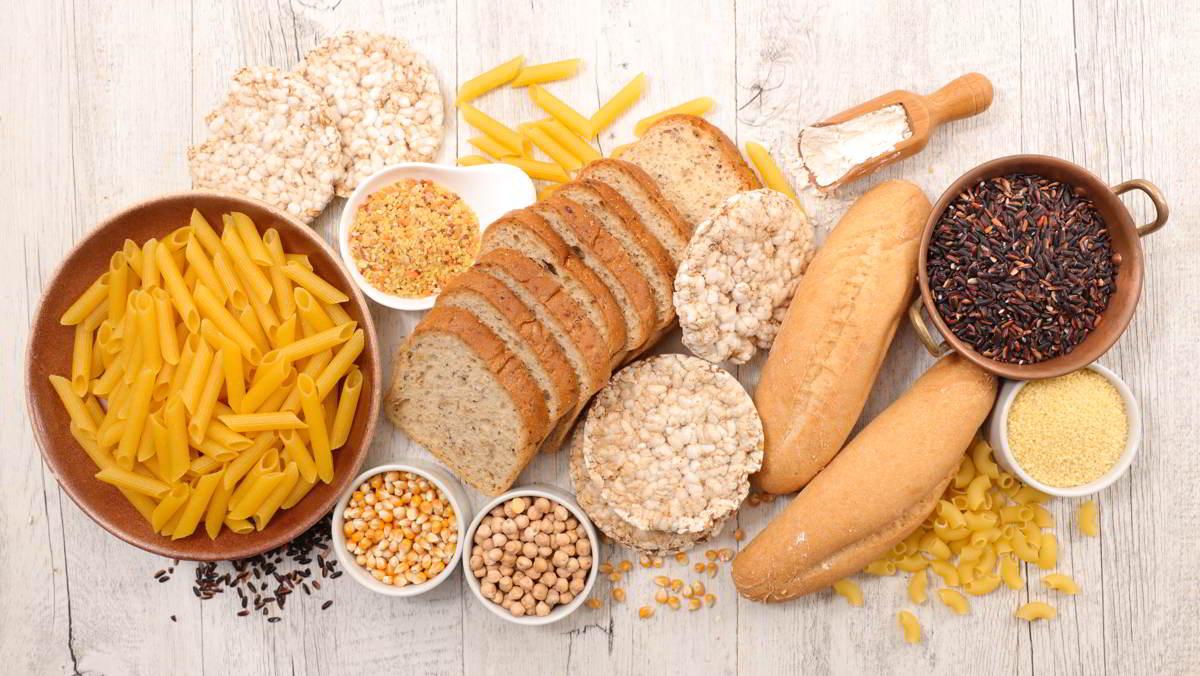 Imagen que representa un bodegón con alimentos que contienen gluten