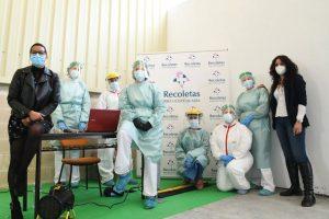 Recoletas Palencia colabora con el cribado masivo para empresas en Venta de Baños