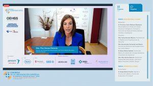 Pilar Gómez expone el Plan de Actuación llevado a cabo durante la pandemia en Recoletas Burgos