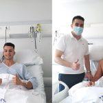 Dos jugadores burgaleses intervenidos con éxito en Recoletas Burgos. HRB