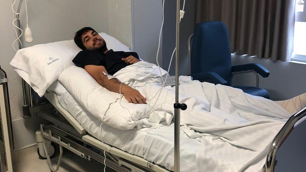 El Capitán del C.D Becerril: intervenido quirúrgicamente en Recoletas Palencia
