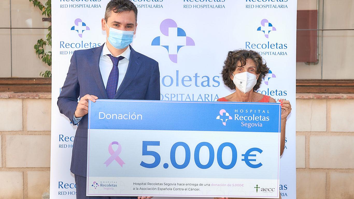 Recoletas Segovia colabora con la Asociación Española Contra el Cáncer. HRSEG