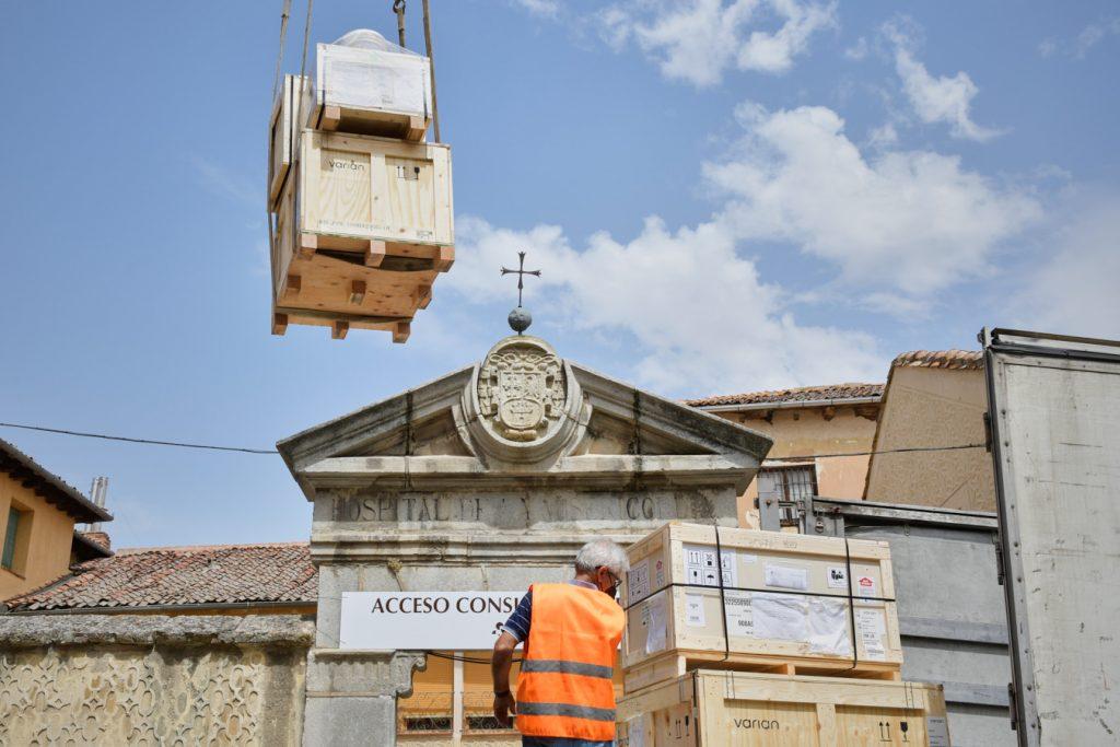 Instalado un acelerador lineal en Recoletas Segovia